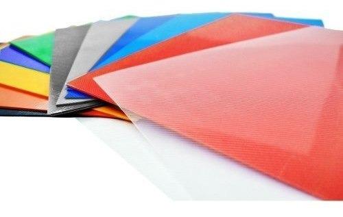 Tapas Encuadernar Anillar Espiralar Transparente O Color A4