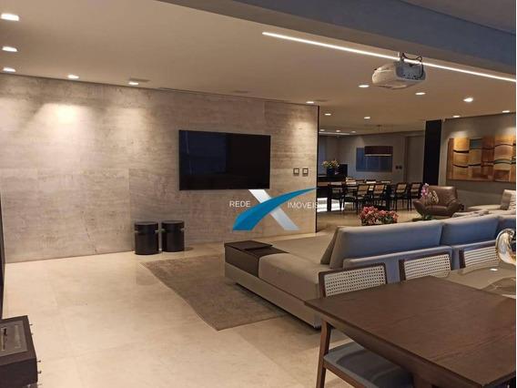 Apartamento De Alto Luxo Com 4 Dormitórios À Venda, 244 M² Por R$ 2.750.000 - Vila Da Serra - Nova Lima/mg - Ap5921