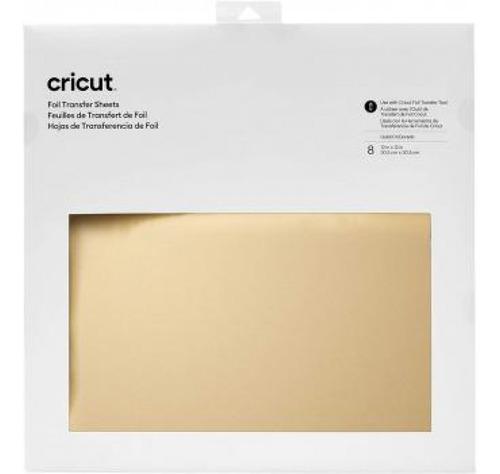 Cricut - Foil Metalizado Para Transferência - Dourada 8 Und.