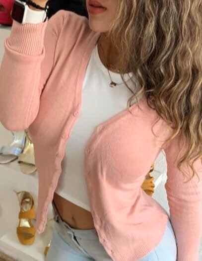 Suéter Básico Botones