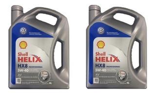 8 Lt Aceite Shell Helix Hx8 5w40 100% Sintético Vw Amarok Repuestos Originales