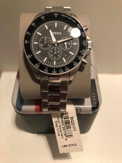 Relógio Fossil Bq2171 Masculino. Multifunção Prata