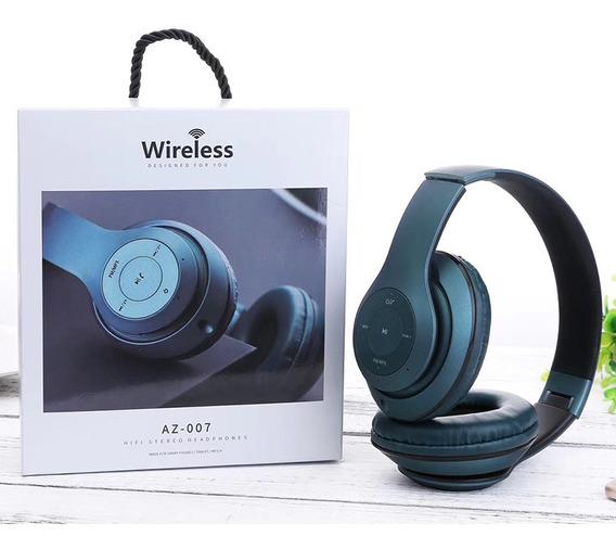 Um Az07 Cartão Bluetooth Fm Rádio Fone De Ouvido Dobrável Fo