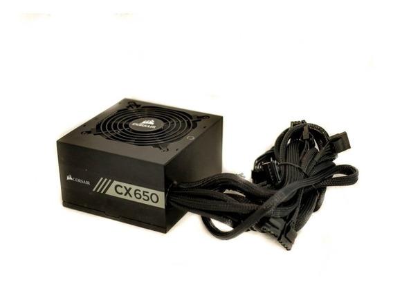 Fonte Corsair Cx650 650w Real Pc Gamer 80 Plus Bronze