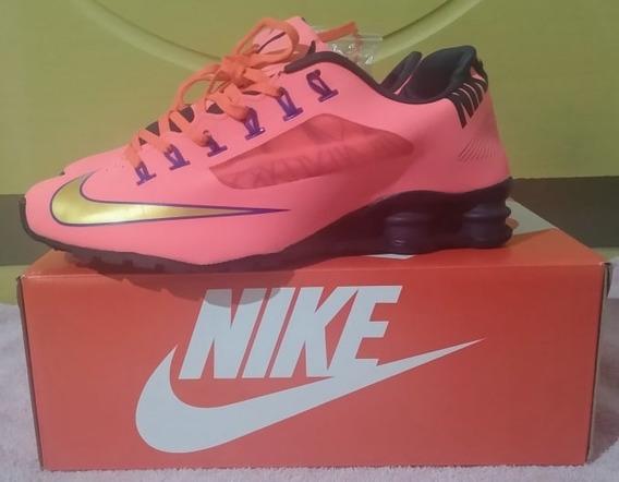 Tenis Nike Shox Superfly Rosa E Azul Nº40 Original Na Caixa!!!