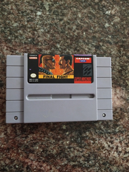 Final Fight 1 Original Super Nintendo Seminovo