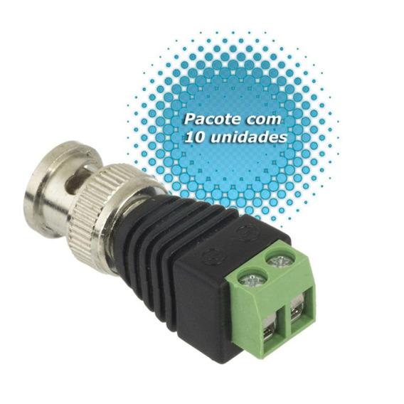 Kit 10 Plug Conector P4 Bnc Borne Kre P/ Cftv Camera Borne