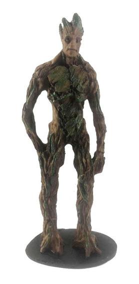 Action Figure Groot Adulto Em Pé 22cm Resina Vingadores.