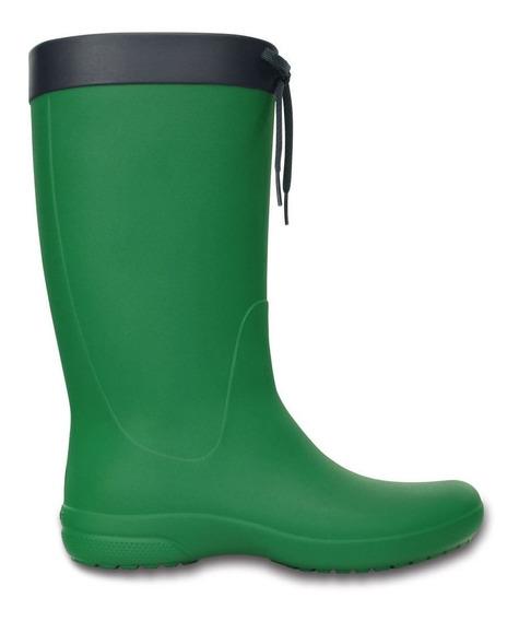 Crocs Bota De Lluvia Freesail Rain Boot C203541 C7c1 Verde