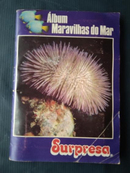 Álbum Chocolates Surpresa Completo Maravilhas Do Mar - Ótimo