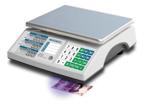 Bascula Comercial Advance 30kg/5g Detector Billetes Comprosi
