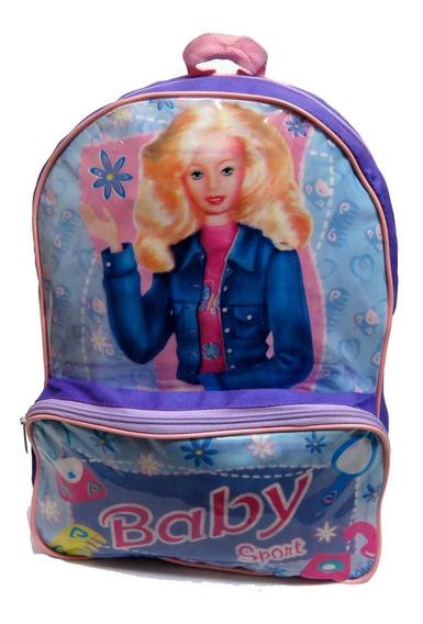 Mochila Colegial Baby Simil Barbie Espalda 3187 - Children