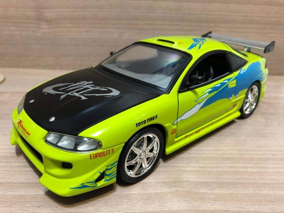Miniatura Velozes Furiosos Mitsubishi Eclipse 1:18