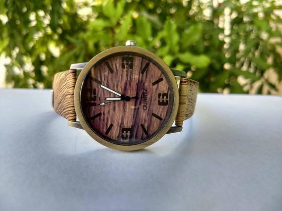 Relógio Masculino Quartzo Efeito Madeira