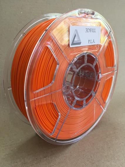 Filamento 3d Pla _ 1,75 Mm _ 1kg - Laranja _ Frete Grátis