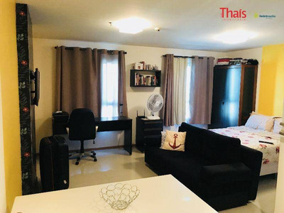 Flat Com Cozinha Com Armários No Jade Hotel Home Office - Park Sul - Fl0049