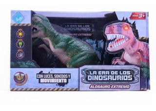 Dinosaurio Con Luz Y Sonidos 15 Cm A Pila El Duende Azul Ful