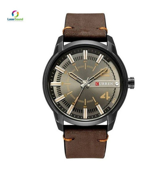 Relógio Masculino Curren 8306 Preto E Marrom C/ Garantia E N