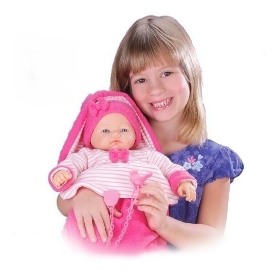 Boneca Dorme Bebê Com Som Menina - Roma Brinquedos