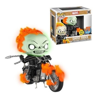 Funko Pop Ghost Rider Con Motocicleta (glow In The Dark)