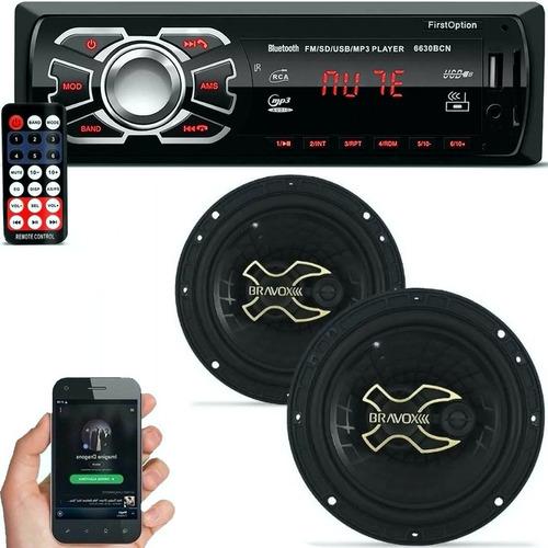 Imagem 1 de 8 de Aparelho Mp3 Com Bluetooth Radio Fm Usb + Falante Bravox 06