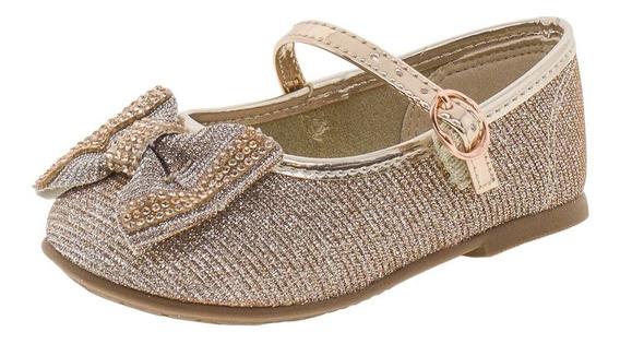 Sapatilha Infantil Baby Molekinha - 2106183 Bronze