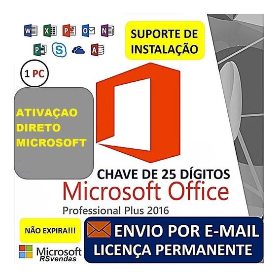 Office (2016) Pro Pus Key Chave Licença 25 Dígitos Vitalícia