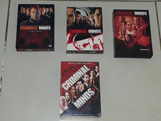 Box Dvd Criminal Minds Da 1 A 4 Temporada Original Coleção