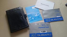 Manual Do Proprietario Subaru Forester 2005 2008 Lx Xt