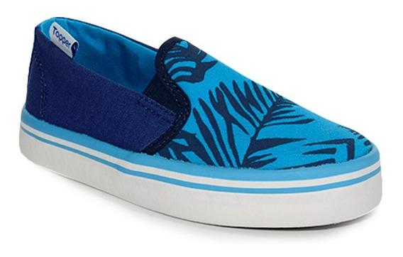 Pancha Topper Surf 29210 Celeste/azul Niño Dep