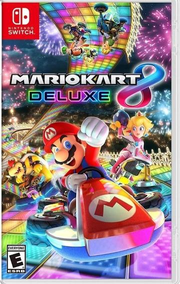 Mario Kart 8deluxe Nintendo Switch Mídia Física Lacrado