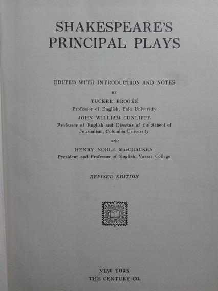 Livro Raro Shakespeare Principal Plays 1927
