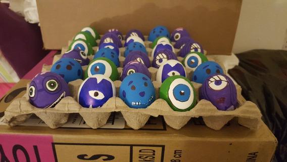 30 Huevo Pascua Decorado Relleno Confenti Monster Inc Envió!