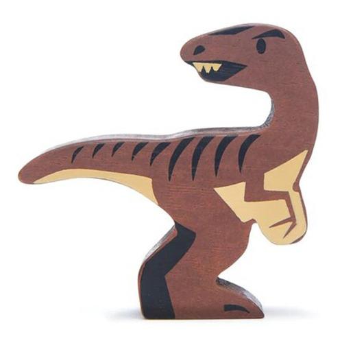 Imagen 1 de 3 de Juguete De Madera Dinosaurio Velociraptor Niños Bebés Febo