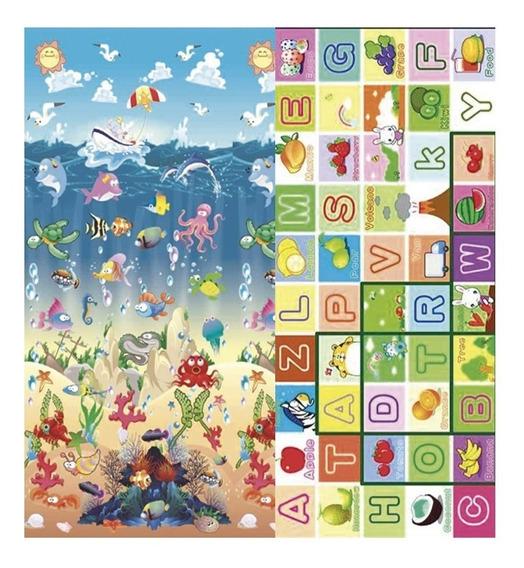 Alfombra Play Mat 150 X 180 X 2cm Fondo De Mar