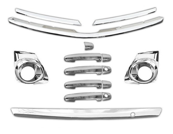 Aplique Corolla 12 13 14 Maçanetas Moldura Grade Porta Mala