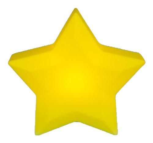 Luminaria De Mesa Criativa 3d Estrela Amarela