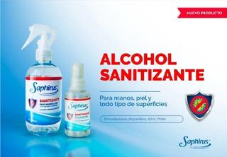 Sanitizante De 250 Cm3 Saphirus X 5 Unidades