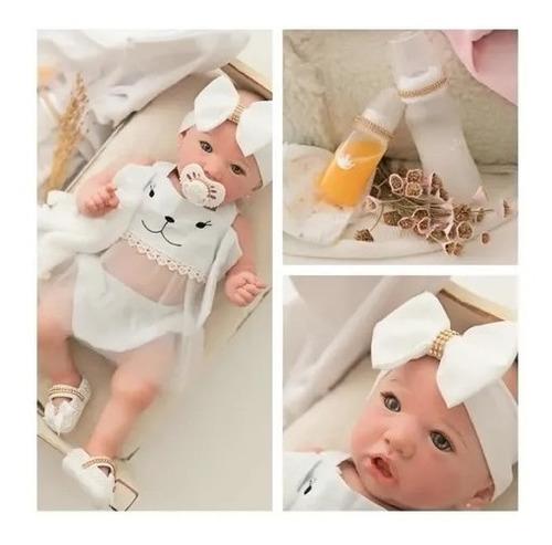 Bebê Reborn Original  100% Silicone - Unhas Leitosa