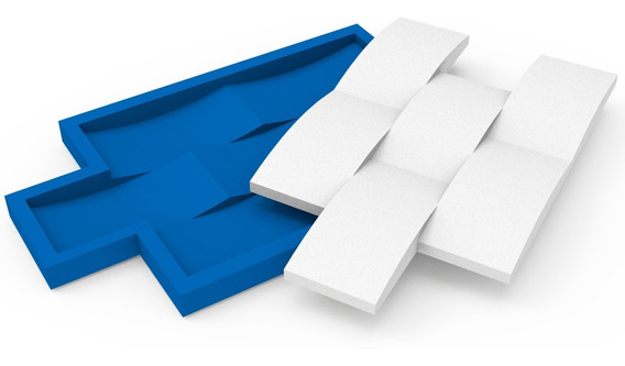 Forma Para Gesso 3d Tijolinho Concavo G 100% Silicone.