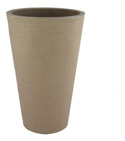 Vaso Decorativo De Planta Flor Coluna Redonda 36x25x58