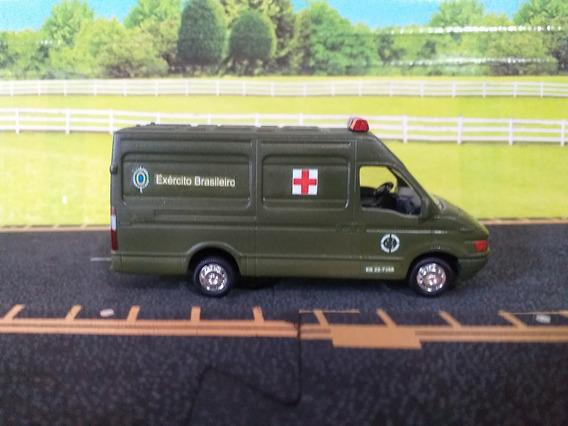 Miniatura Van Iveco 1/64 Grell Exército Br Ambulância Leia D