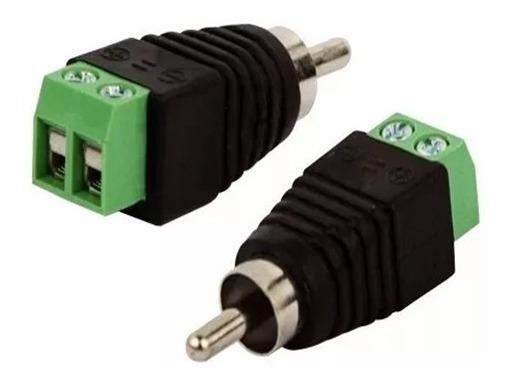 Conector Adaptador Borne Para Rca Macho - 9554