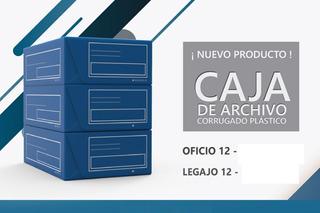 Caja Archivo Plastica T/ Plana Oficio 12cm 36x25x12 Pack X5