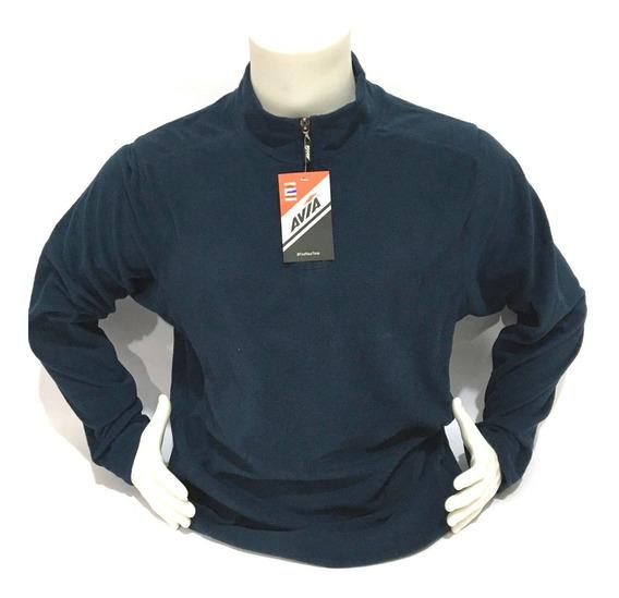 Buzo Hombre Micropolar Liviano Sweaters Abrigo Medio Cierre