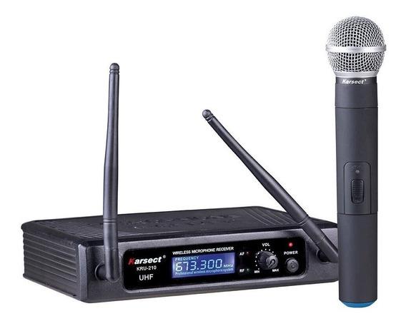 Microfone S/fio Karsect Kru210m