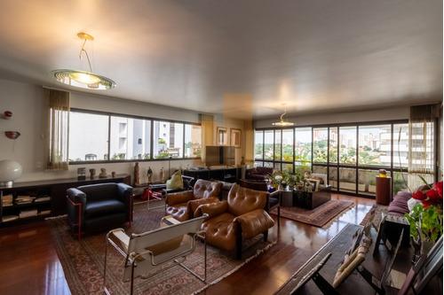 Apartamento Todo Mobiliado, 287 Metros, Garagens Privilegiadas. Próximo Ao Colégio Rio Branco.  - Ja17954