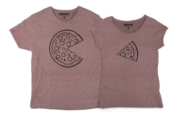 Playeras De Pareja Novios Pizza Rebanada Camisetas Amor