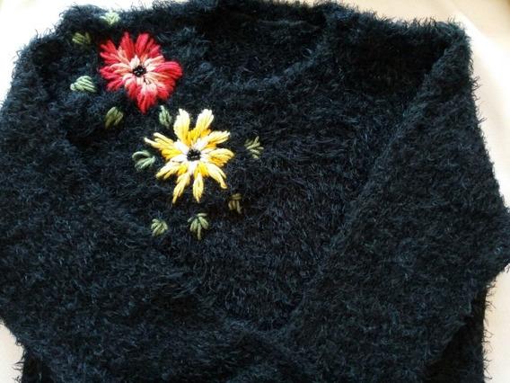 Sweter Mujer Bordado A Mano Otoño Invierno 2018