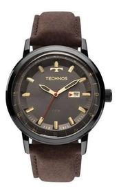 Relógio Masculino Pulseira Couro Technos 2115laq/2c